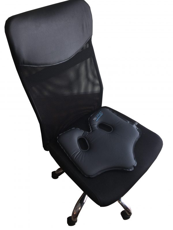 SoftAirSeat Hybrid im Büro - Sitzkissen im Büro - Sitzkissen auf dem Bürostuhl Anwendung Einsatz Nutzung