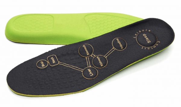 Schuhsohle mit Akupressur Stimulation und Neodym Magneten