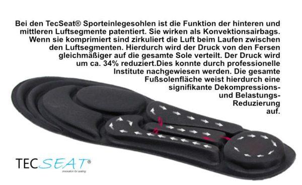Massage Schuheinlage Dynamische Luftverteilung Einlegesohle mit Luftpolster - Laufen wie auf Wolken